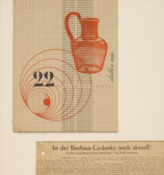 Auszug von Dokumenten aus dem Reckenfelder Schrank betreffend eine Ausstellung von Berliner Bauhäuslern